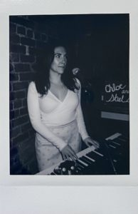 Anna on the keys polaroid