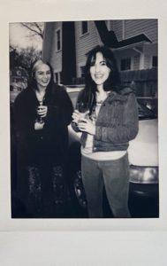 Chloe and Emma at Band Photoshoot Polaroid
