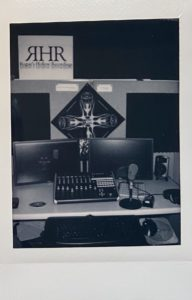 recording studio polaroid