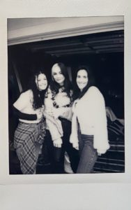 The girls at the merch shoot
